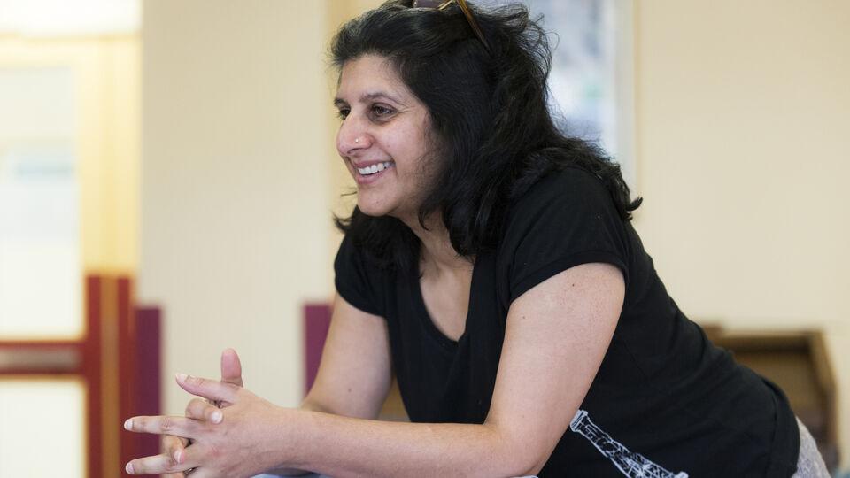 Arti Prashar during rehearsals