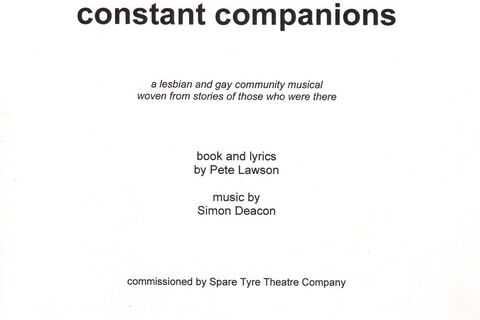 "Front cover of ""Constant Companions"" script"