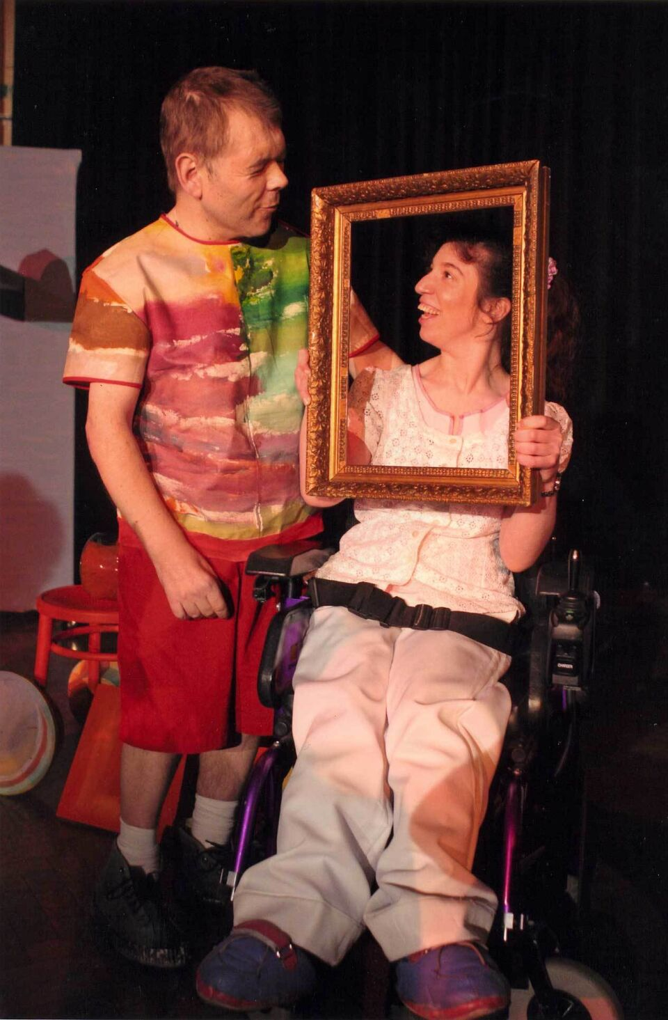 "Two ""inc.Theatre"" actors in a performance"