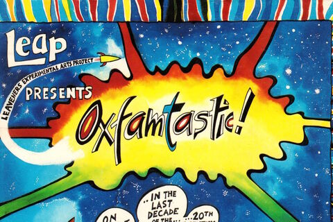 "Front cover of ""Oxfamtastic: Whose World?"" script"