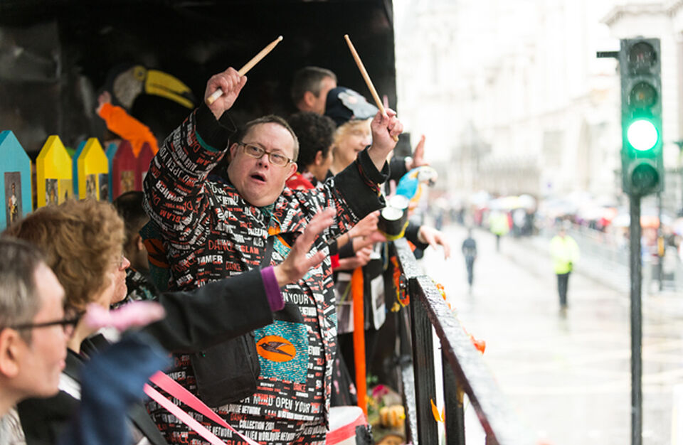 Spare Tyre Band performing at the Lord Mayor's Show