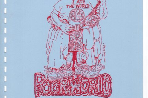 "Front cover of ""Poor World"" script"