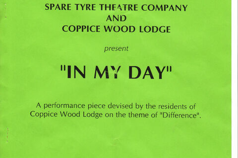 "Programme for ""In My Day"""