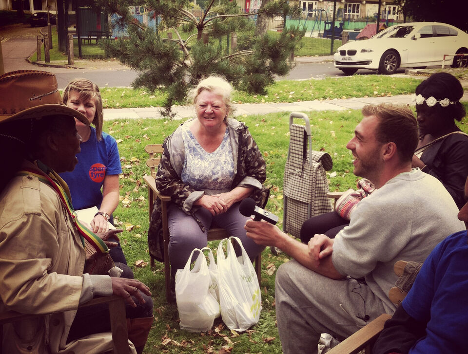 Spare Tyre participants with Roehampton residents