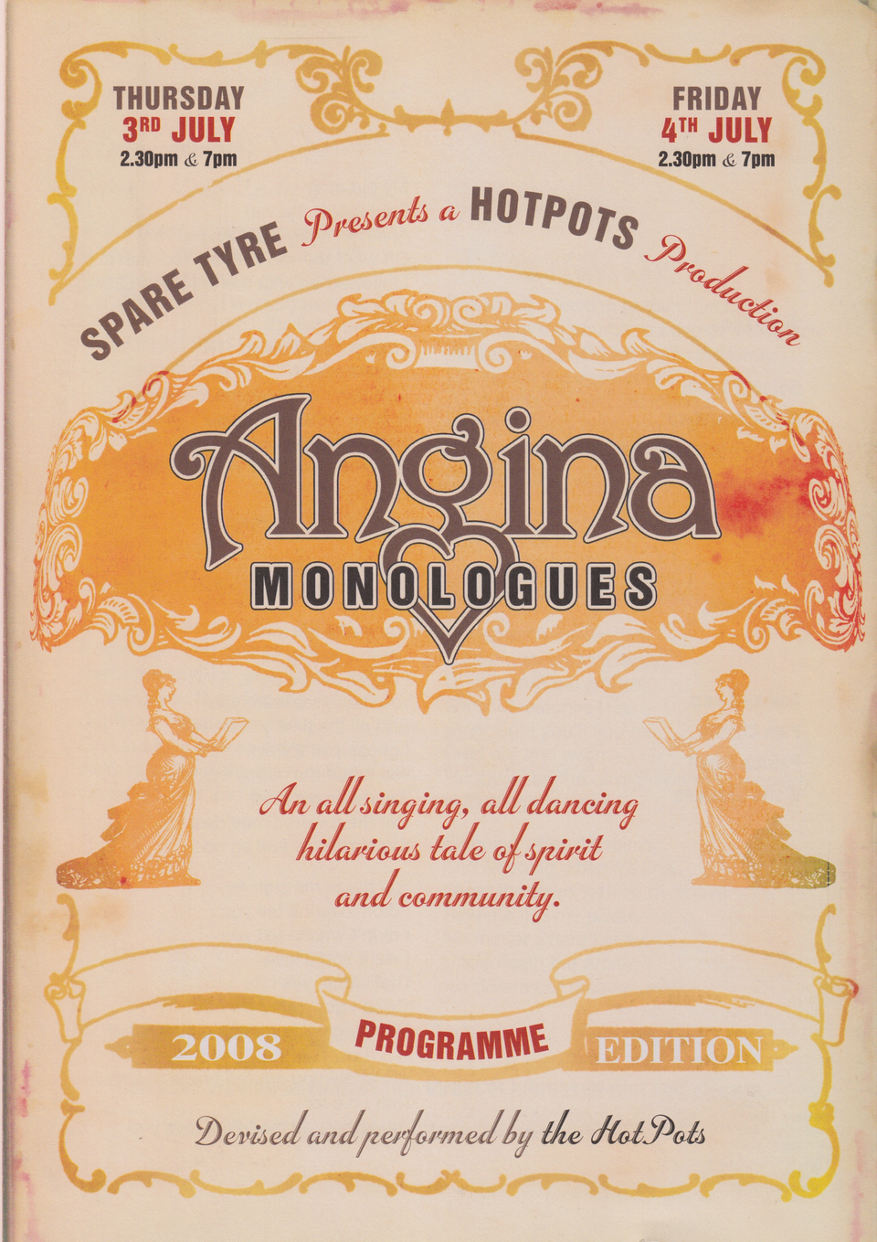 Poster for 'Angina Monologues'