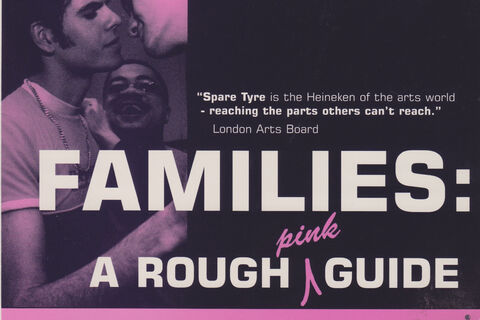 "Flyer for ""Families: A Rough Pink Guide"""
