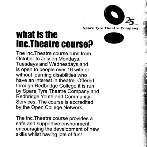 "Flyer advertising ""inc.Theatre"""