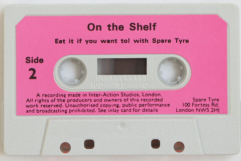 "Sleeve and cassette tape of songs from ""On the Shelf"""