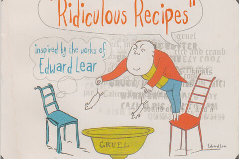 "Front cover of a programme for ""Ridiculous Recipes"""