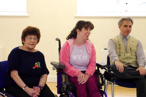 Photo of a workshop session with members of Company of Artists and inc.Theatre
